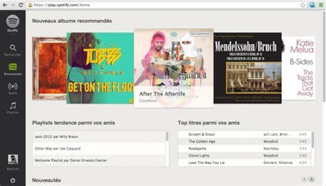 spotify web player mobile spotify le lecteur web au sein du navigateur