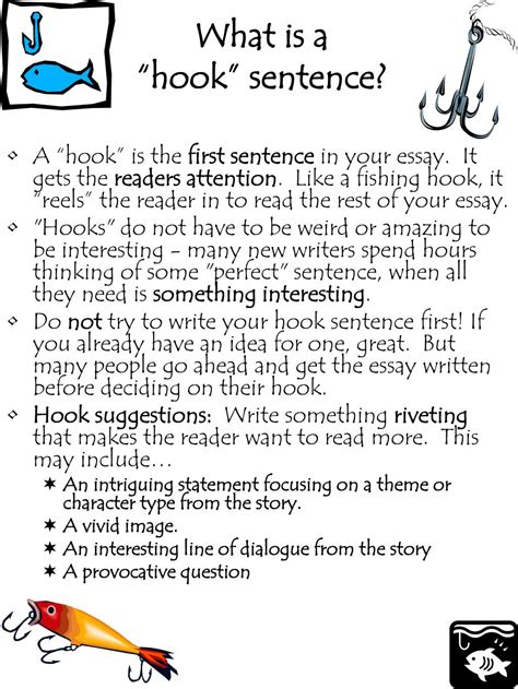 how to write a hook sentence for a research paper ppt what is a hook sentence powerpoint presentation