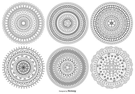 mandala coloring pages vector mandala style vector shapes collection free