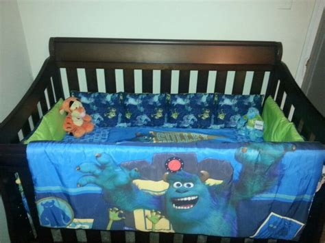 monsters inc toddler bed diy monsters inc crib bedding 1 bought a monsters inc