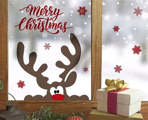 Weihnachtsdeko Fenstersticker by Fenstersticker Wandsticker Aufkleber Elch Rentier