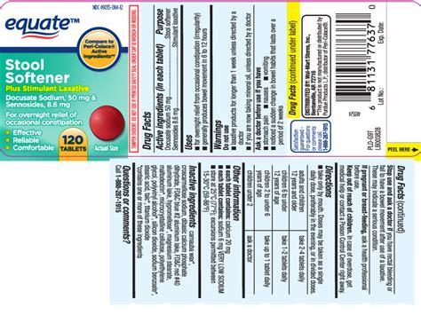 Equate Stool Softener Ingredients by Stool Softener Plus Stimulant Laxative Equate Walmart