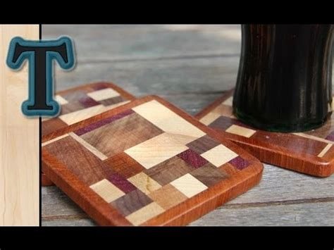 Wooden Drink Coaster by Woodworking Project Scrap Wood Coasters Drink Mats