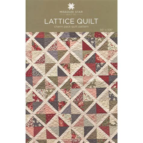 Missouri Quilting Company by Lattice Quilt Pattern Sku Pat762 Missouri Quilt Co