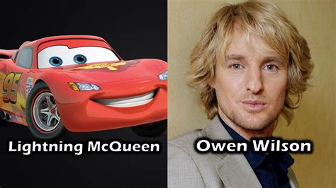 actor in youtube characters and voice actors cars youtube