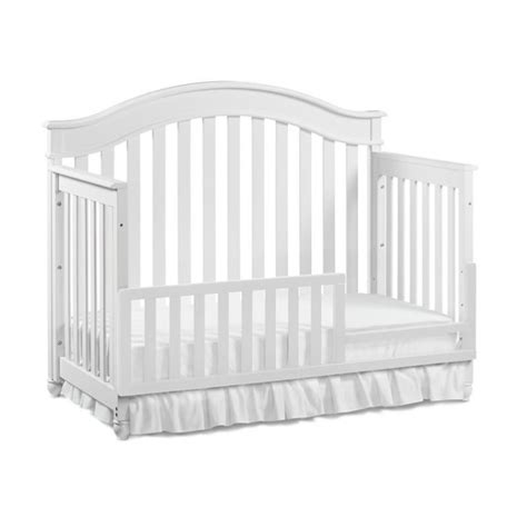 Evolur Convertible Crib Toddler Guard Rail In White 811 W Convertible Crib Guard Rail