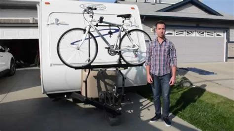 arvika rv bike rack travel trailer installation demo