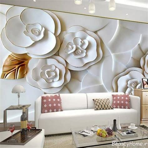 floor and decor almeda 2018 تصاویر 28 دکوراسیون پذیرایی با کاغذ دیواری های مدرن و متفاوت