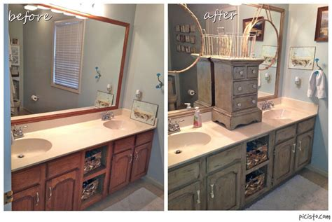 chalk paint kitchen cabinets before and after bathroom vanity makeover with annie sloan chalk paint