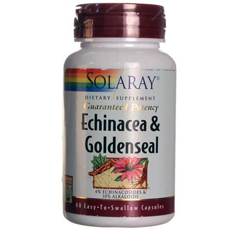 Goldenseal Detox Pills by Solaray Goldenseal Echinacea 60 Capsules Evitamins