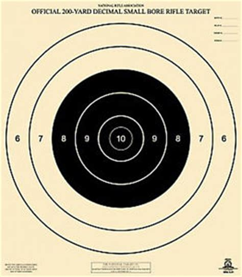 printable f class targets official nra a 21 a21 200 yard decimal small bore rifle