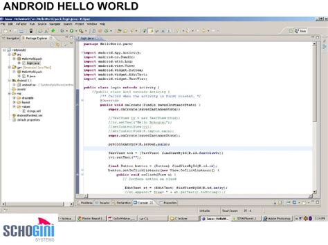 android hello world webinar on android sdk