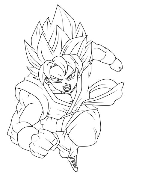ssgss goku coloring pages goku ssgss dragon ball super lineaart by xantrogamerx