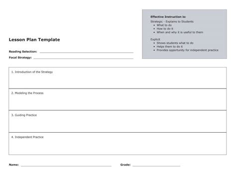 template of a 44 free lesson plan templates common preschool weekly