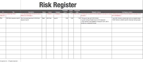 basics of risk register inceptone com