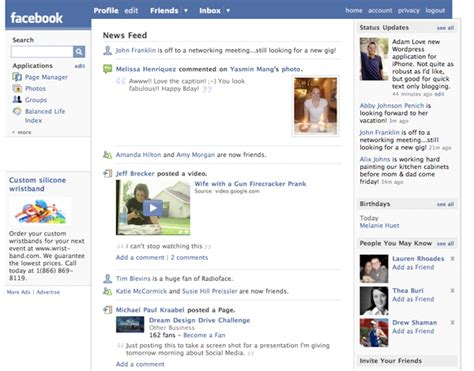 facebook themes change layouts the changing faces of facebook the dbwd blog