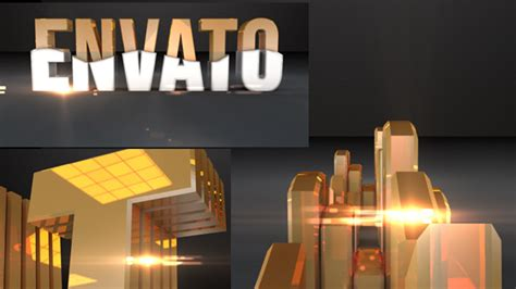 cinema 4d template videohive golden title 4813618