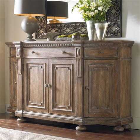 furniture sorella 5107 85001 shaped credenza with