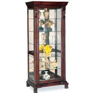 Curio Cabinet Items Coaster Curio Cabinets 5 Shelf Curio Cabinet With Mirrored