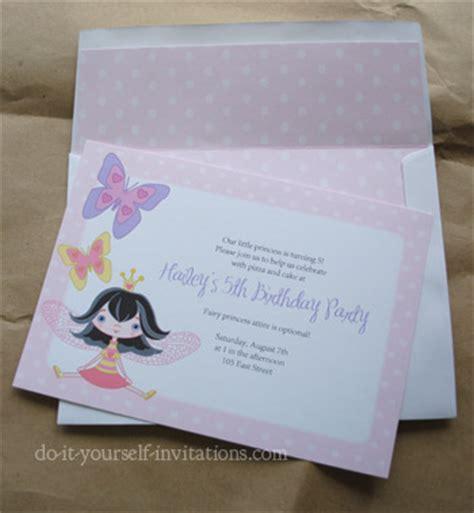 Fairy Party Invitations Diy Printable Fairy Ander Y Kit