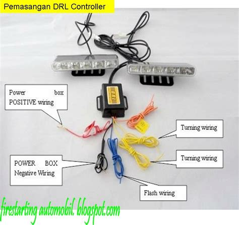 starting automobil diy pemasangan lu led daylight