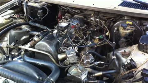 1985 mercedes 300d turbo engine view and cold start w123