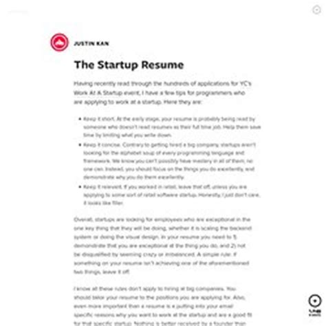 Startup Resume by Resume Curriculum Vitae Cv Etc Pearltrees