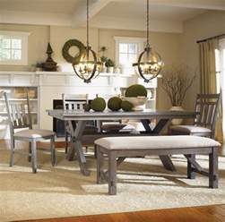 Dining Room Sets With Bench Seating How To Decorate Trestle Dining Room Table Home Interiors