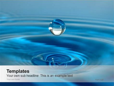template ppt water free animated water drop powerpoint template bing images