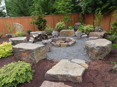 snohomish rock firepit sublime garden design landscape