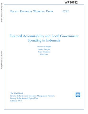 spending pattern en francais electoral accountability and local government spending in