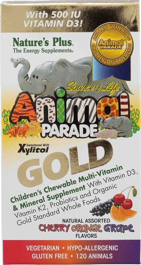 Vitamin Buddies vitamin th蘯ソ gi盻嬖 苟盻冢g v蘯ュt animal parade gold