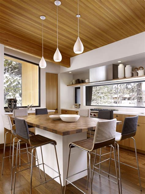 wood dining room furniture open plan living room and dining area light