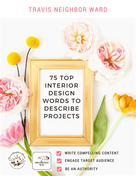 top interior design words  describe projects