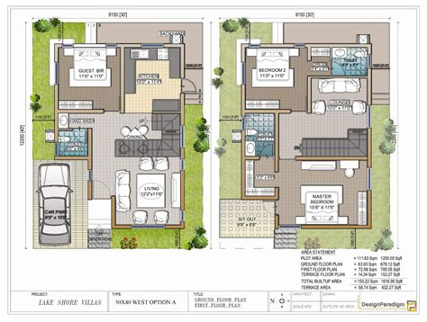 floor plan for 30x40 site lake shore villas designer duplex villas for sale in
