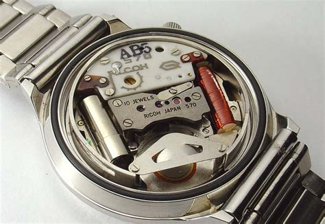 computer back quartz watches