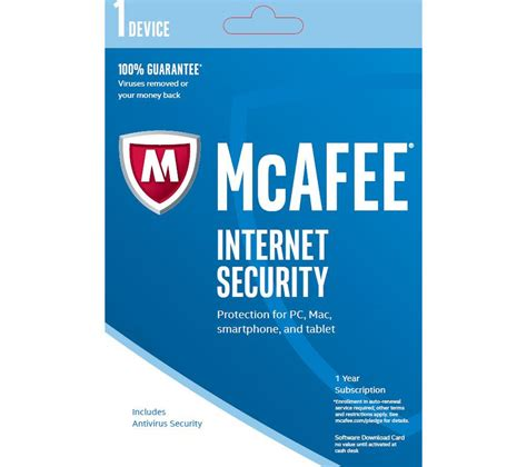 mcafee internet security 2016 mcafee protection mcafee internet security 2016 1 user for 1 year deals