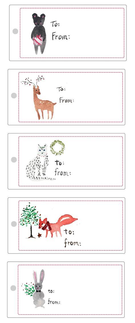 Printable Animal Gift Tags | dvdinteriordesign com free printable christmas gift tags