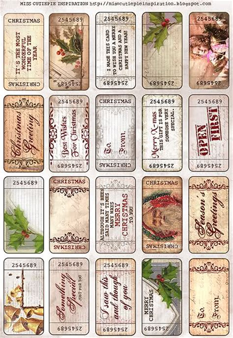 printable vintage tickets printable vintage style christmas tickets part 2