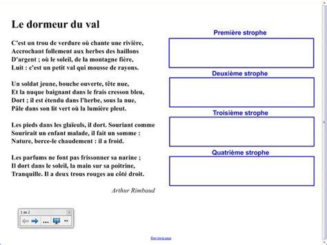 Le Dormeur Du Val Rimbaud Texte by Fiche 5 Le Vocabulaire De La Nature Les M 233 Diafiches