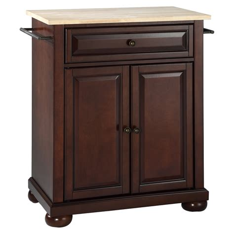alexandria kitchen island alexandria wood top portable kitchen island vintage mahogany dcg stores