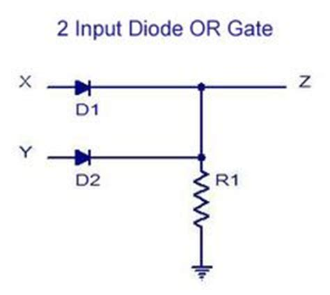 use of diodes in a circuit 3 input or gate table electronic circuits gates truths and chang e 3