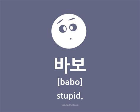 how to say in 바보 how to say stupid in korean kimchi cloud