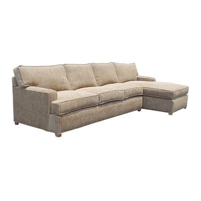 slipcovered sofa with chaise slipcovered metro t arm with chaise sofa