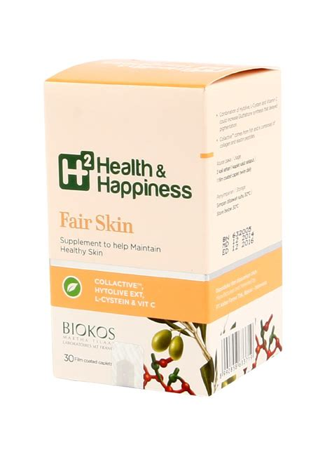 Suplemen H2 Health And Happiness h2 health happiness fair skin 30 s box klikindomaret