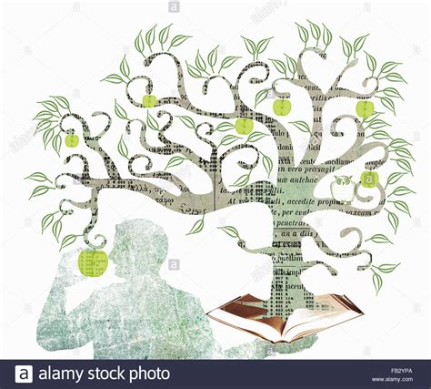 tree books apple from the tree of knowledge growing out of