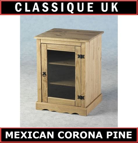 Pine Hifi Cabinet With Glass Door Mf Cabinets Hi Fi Cabinets With Glass Doors