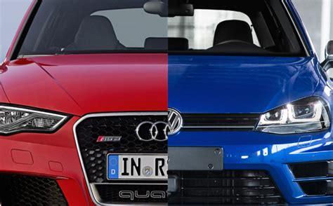 Audi Vs Vw by Audi Rs3 Vs Volkswagen R