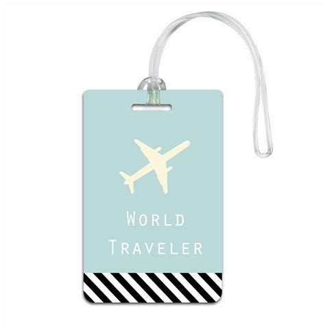 personalized tag personalized world travelers luggage tag