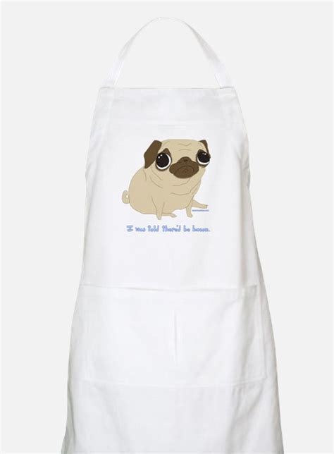 pug apron pug aprons pug cooking aprons for